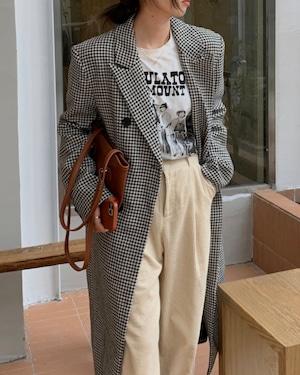 pattern long coat