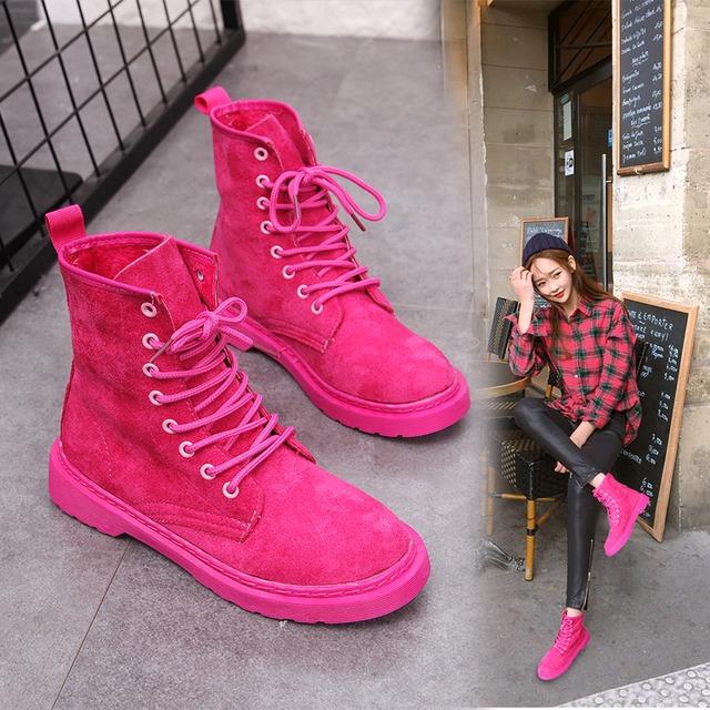 【シューズ】ファッション無地丸トゥショート丈ブーツ43007863