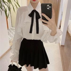 butterfly ribbon blouse