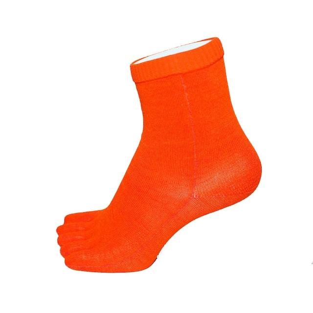 Inner-Fact 5Finger Middle Socks (Dark Orange)