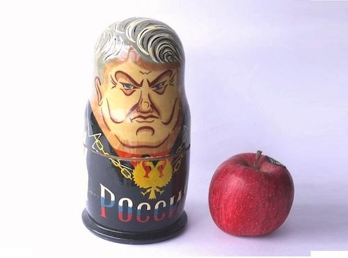 エリツィン大統領マトリョーシカ人形ロシア民芸ウッドターニング