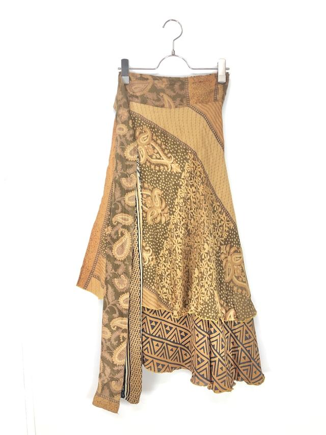 ヴィンテージサリースカート only one design スモーキーペイズリー ゴールデン