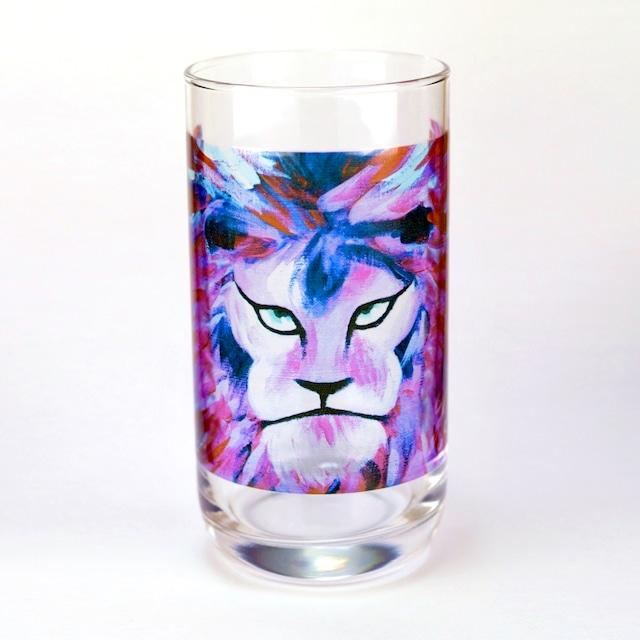 Pink Lion グラス:ユッコ・ミラー絵画シリーズ
