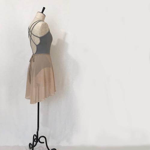 "◇""Tatiana"" Ballet Wrap Skirt -    Nude Ⅱ [Sheer]( ヌードⅡ [シアー])"