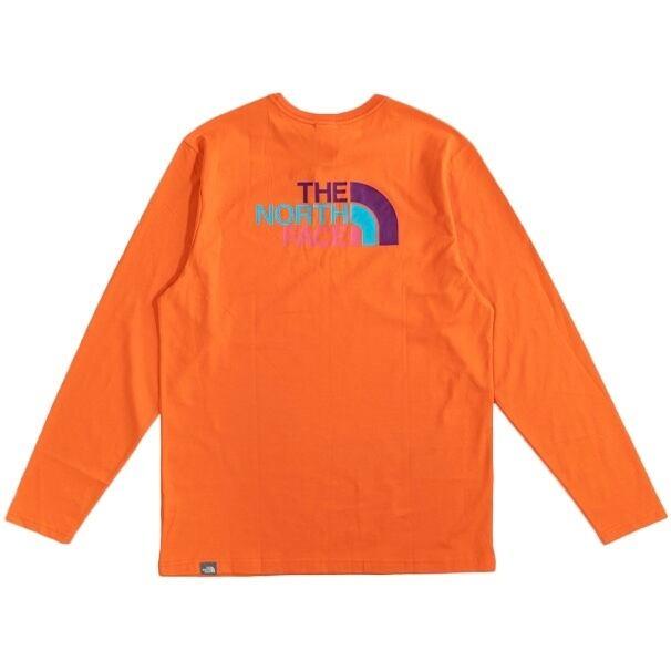 TNF  long sleeve / orange