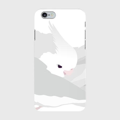 iPhoneケース もふもふオカメインコ ホワイトフェイス【各機種対応】