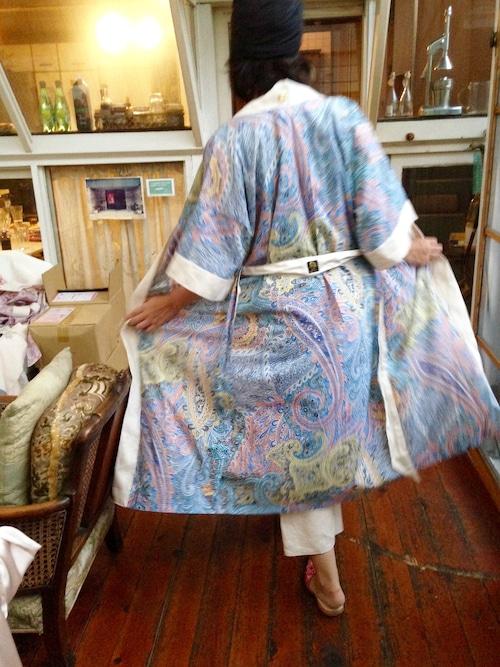 Long Robe Paisly Blue ロングローブペイズリーブルー