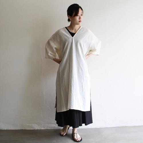 PHEENY【 womens 】ramie rayon mole dress