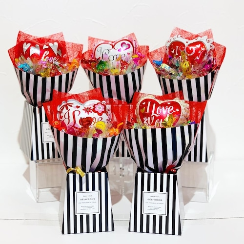 キャンディーブーケ5コセット(ラブ)