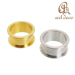 アクセサリー パーツ 指輪 リング 1個 幅 10mm 内径17mm [ri-25781] 粘土 樹脂 土台 ハンドメイド オリジナル 材料 金具 装飾 カラワク 空枠