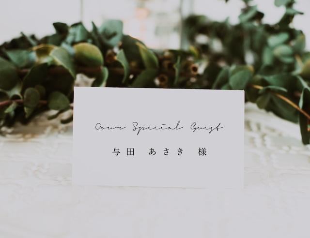 席札 90円/部~ <ミニマル?A> │ウェディング 結婚式