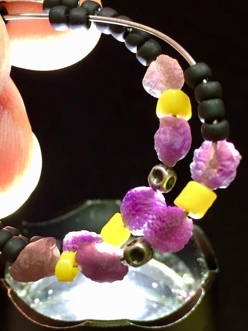 3) 紫ゴビアゲート「卑弥呼」ピアスA