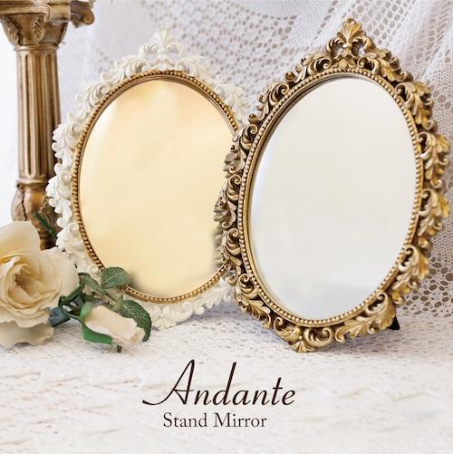 Andante アンダンテ[スタンド・ウォールミラー(オーバル)]