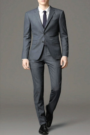 セットアップスリムシングルスーツ Color: gray