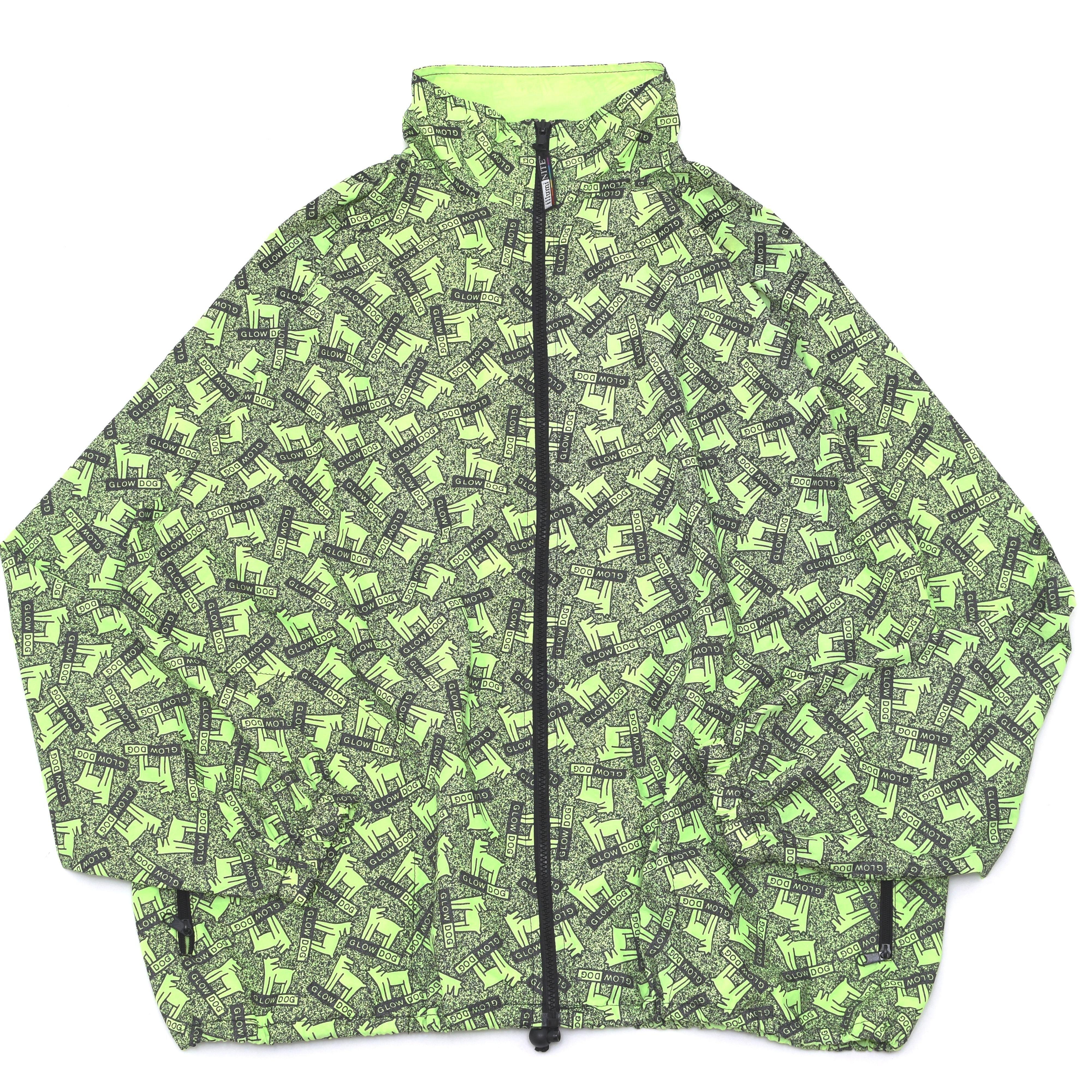 GLOWDOG×illmiNITE allover pattern jacket 総柄 ナイロンジャケット