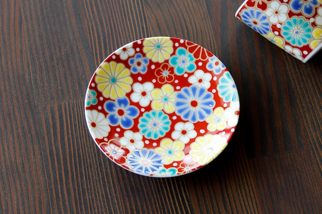 【SP3K19-11】『九谷縁起豆皿コレクション』『梅菊模様〈UMEKIKUMOYOU〉』 *かわいい豆皿 コレクション アクセサリー入れ 小物入れ 絵皿 九谷焼