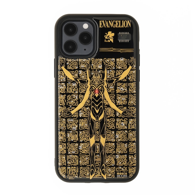 FLASH EVA13 基板アート iPhone 12 / 12 Pro ケース 黒【東京回路線図A5クリアファイルをプレゼント】