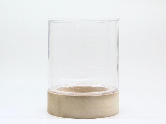 セミオープンテラリウム用ウッドベースグラス《苔テラリウム・コケリウム用》
