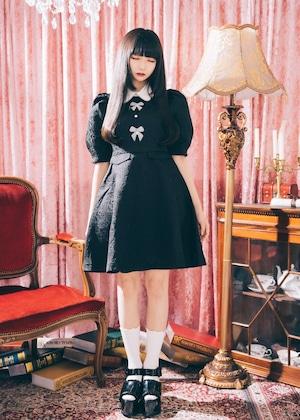 ❤︎再販売❤︎【ManonMimie】Ribbon Jacquard Dress