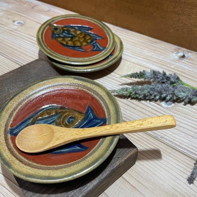 赤絵魚紋 豆皿