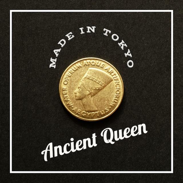 【1個】チャーム コイン 古代エジプト女神 (日本製、真鍮、無垢)