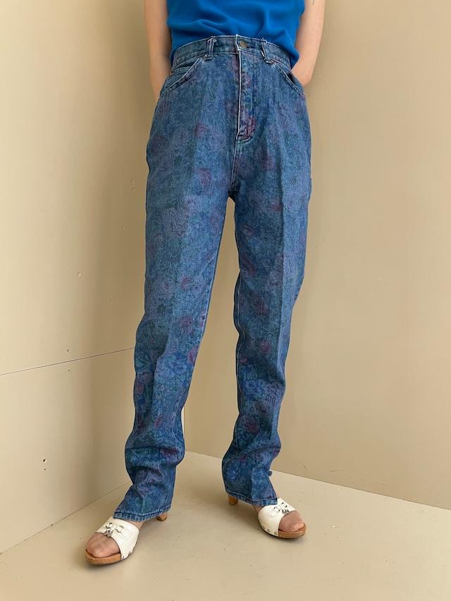 floral design pants / 7SSPT31-01