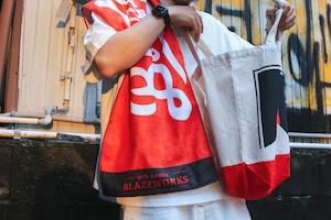 LOGO SPORTS TOWEL [ RED x BLACK ]