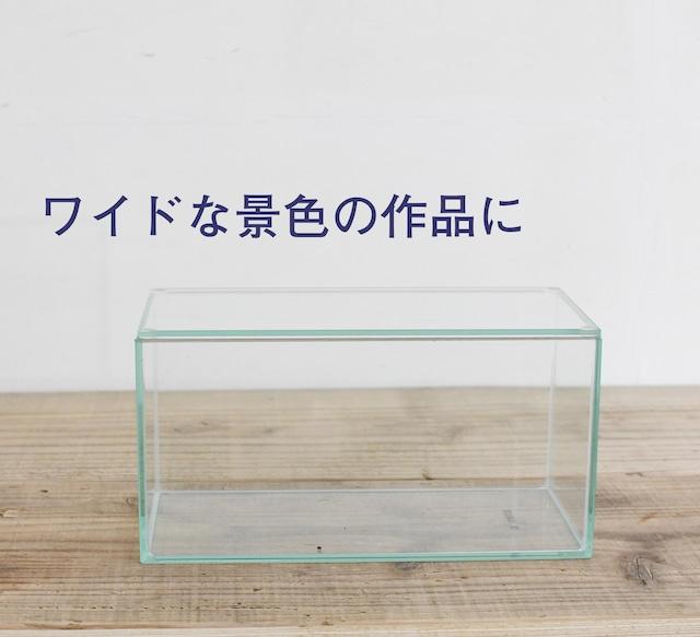 【ガラス容器】フィット200x100low(200x100xh100mm)◆ワイドな景色の作品に