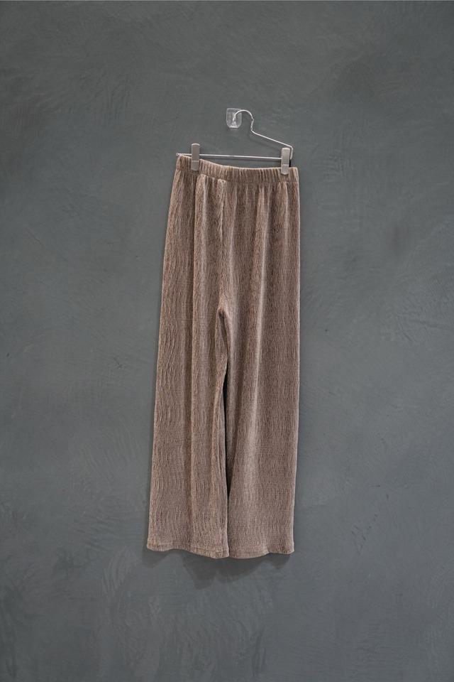 ℃℃℃ velours  easy pants beige