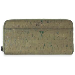 VEGAN ZIP-AROUND WRISTLET  Olive & Terrain /  ラウンドファスナー長財布 オリーブ&テライン コルク製