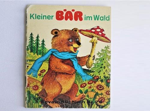 ヴィンテージミニ絵本 「森のちいさいくまさん」pestalozzi-verlag 手のひら絵本