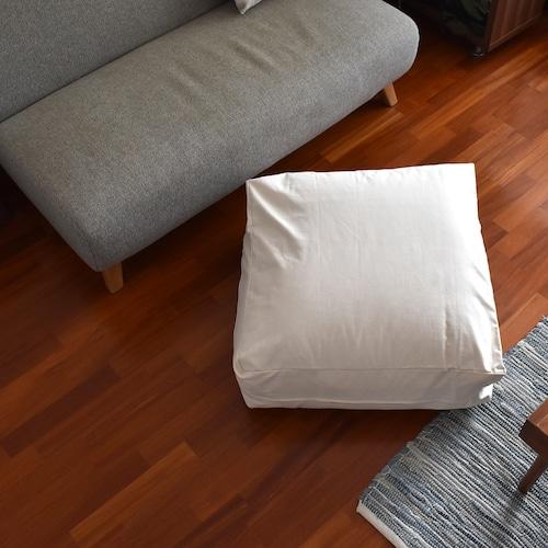 綿100%掛け布団収納ケース クッションタイプ 日本製