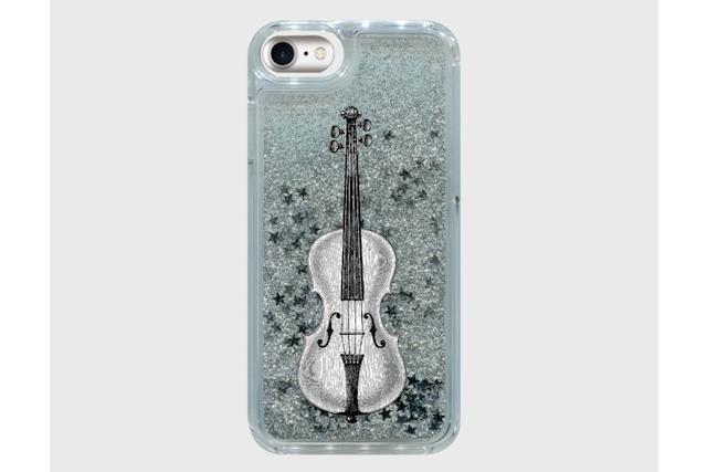 バイオリンのグリッタースマホケース