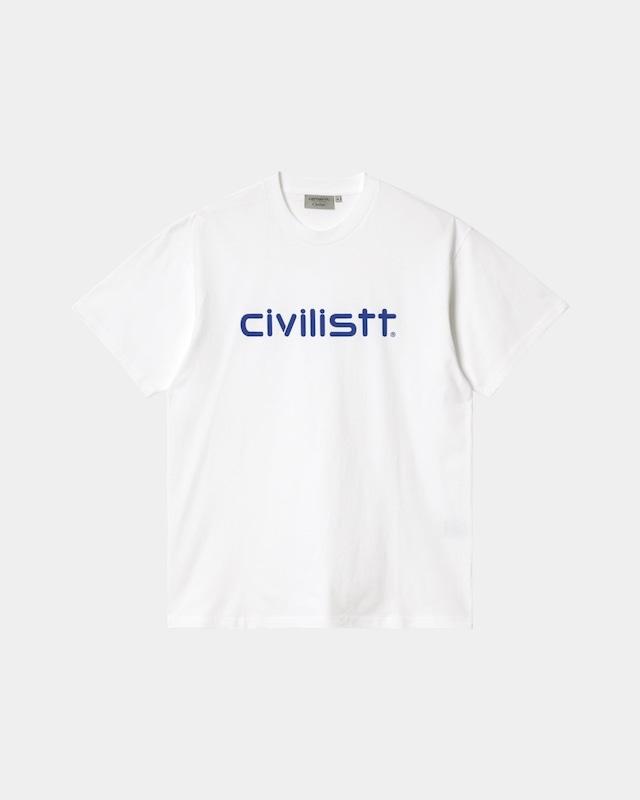 CARHARTT WIP × CIVILIST SCRIPT T SHIRT - WHITE