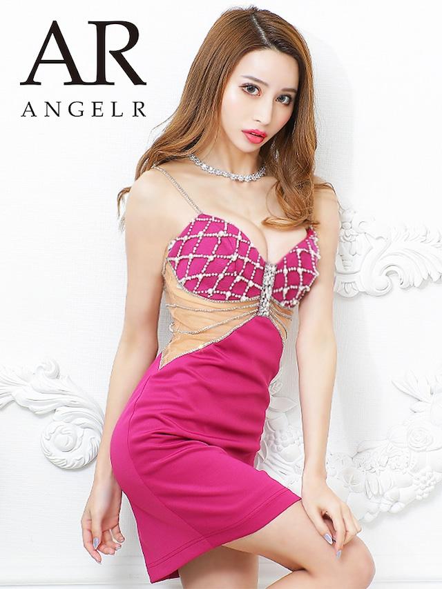 【AngelR】クロスビジューデザインタイトミニドレス(AR21322)