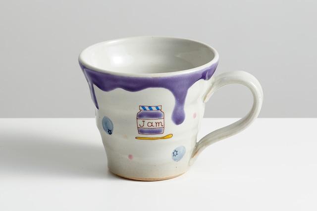 マグカップ ブルーベリージャム