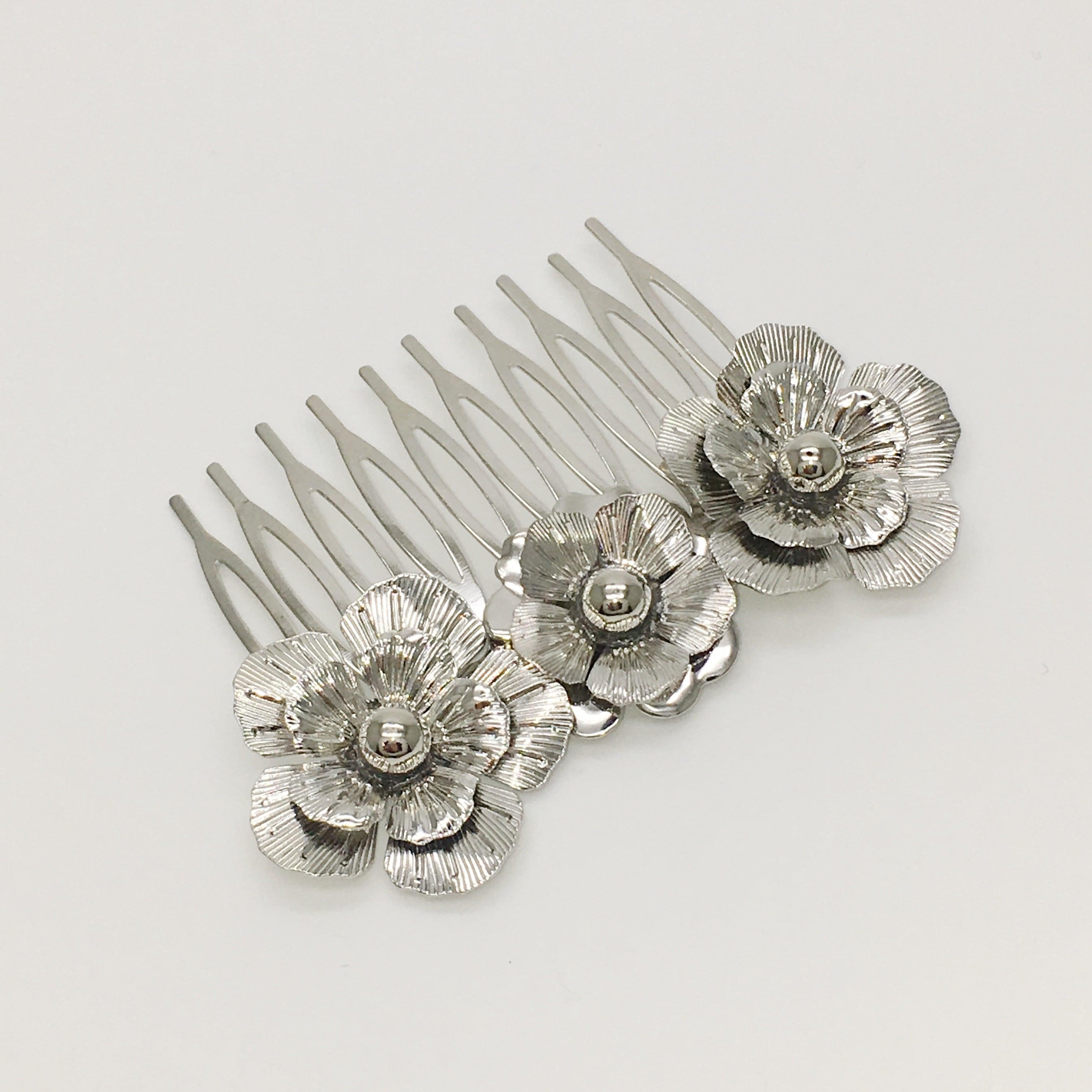 rimiue Flowercomb large silver
