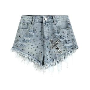 cross studs short pants