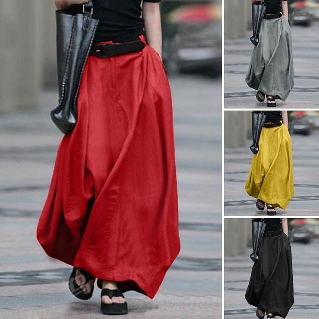 サマーロングスカート 4色 【200631】 大きいサイズあり