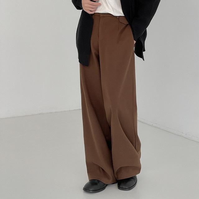 Retro wool wide leg pants   b-503