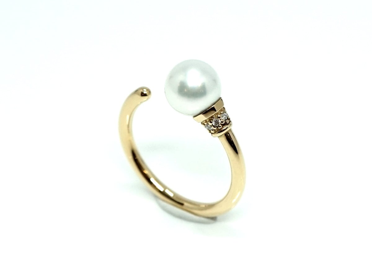 Torch ring pearl - White