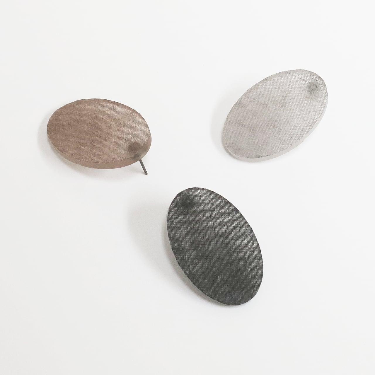 泥染/煤染/幾何学/片耳用ピアスイヤリング/E-6_E_DR