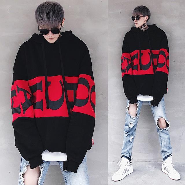 【トップス】ファッション設計感ありアルファベットストリート系男女兼用パーカー36817111