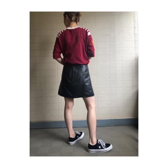 vintage leather mini skirt
