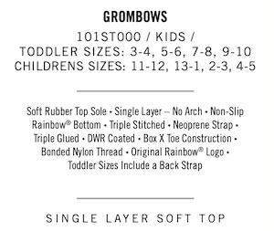 RAINBOW SANDALS 101ST GROMBOWS [KIDS]