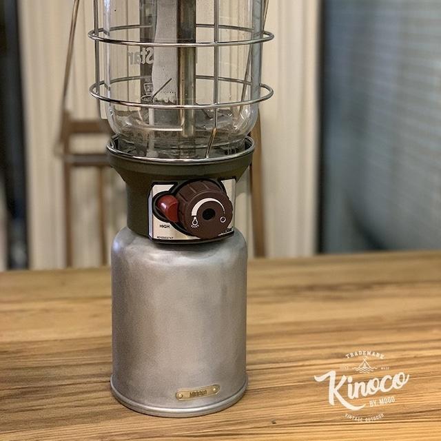 【KINOCO OUTDOOR】OD缶 ガスカートリッジカバー アルミ レトロ【450g用】