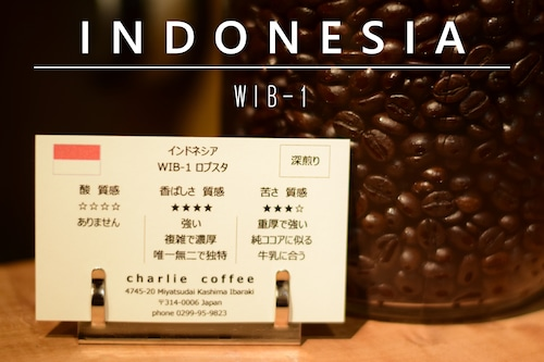深煎り/インドネシア WIB-1 ロブスタ 1kg