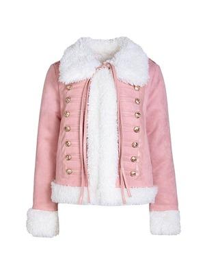 pink volume fur jacket