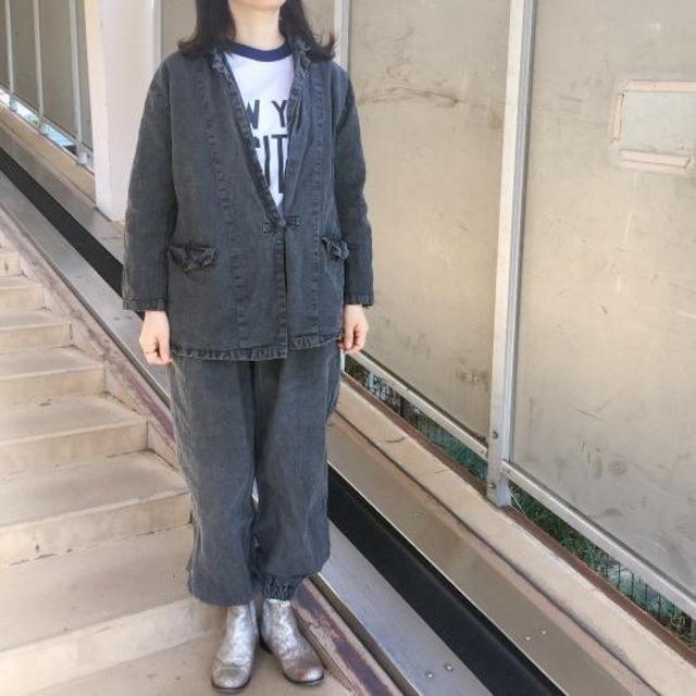 Topanga Lady's チャイナボタンジャケット&パンツ ブラック