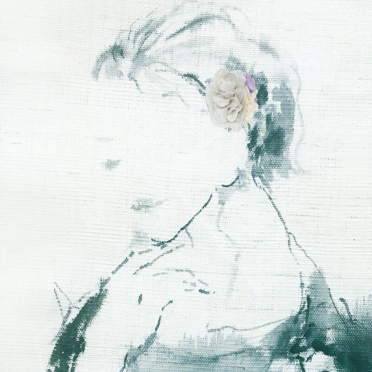 麻のコサージュ 〈Bouquet〉Silver